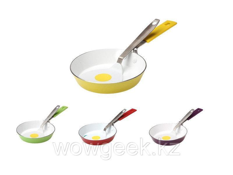 Мини-Сковорода с керамическим покрытием Завтрак 14см+лопатка