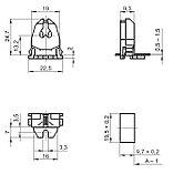 Патрон для люминесцентных ламп T5 сквозной/накладной, фото 2