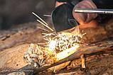 Набор огниво туристическое с кресалом + сигнальный свисток, фото 4
