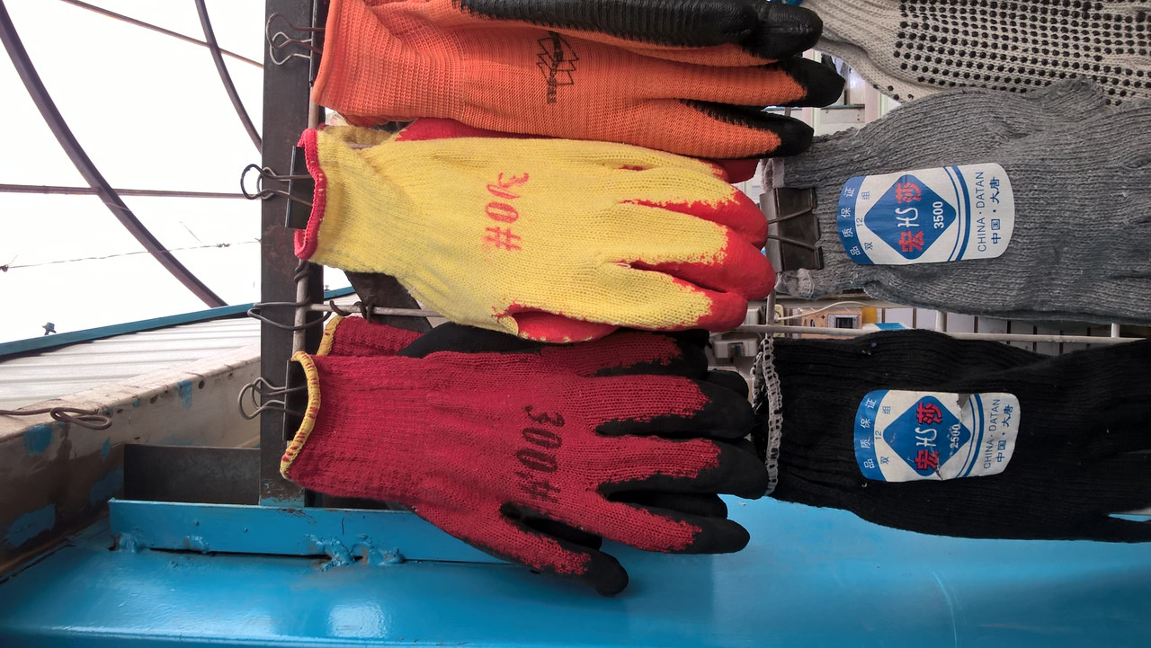 Перчатки х\б рабочие, прорезиненые