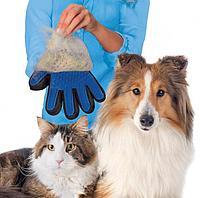 Перчатка для вычесывания шерсти домашних True Touch (тру тач)
