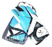 Перчатки вратарские футбольные (голубые)