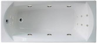 Акриловая гидромассажная ванна. Элеганс 160*70 ОПТИМАЛ (Общий массаж + массаж спины + массаж ног)