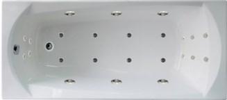 Гидромассажная ванна. Элеганс 160*70 ИНТЕНС (Общий  массаж + массаж спины + массаж ног + массаж дна)