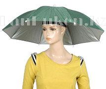 Зонт шляпа на голову (зеленый)