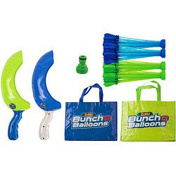 Игрушка Bunch O Balloons Супернабор на двух игроков: 140 шаров с двумя пусковыми устройствами и двумя сумками,