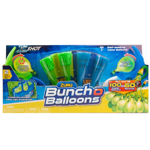 Игрушка Bunch O Balloons Супернабор на двух игроков: 140 шаров с двумя пусковыми устройствами и двумя сумками, дисплей