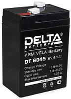 Батарея аккумуляторная 6В 4.5А.ч Delta DT 6045
