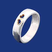 Обручальное кольцо серебро с золотом. Также работаем оптом. Условия и цены уточняйте.