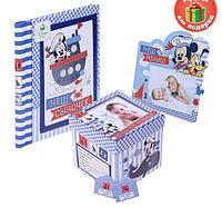 """Подарочный набор: фотоальбом на 20 магнитных листов, коробка + фоторамка""""Самому лучшему сыночку"""", Микки Маус"""
