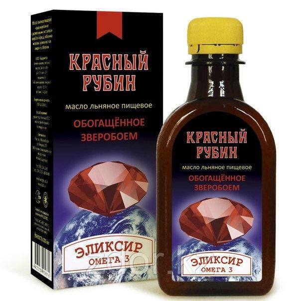 """""""Красный Рубин"""" - масло льняное с экстрактом зверобоя"""