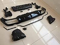 Задний диффузор черный AMG E63 на Benz E-class W213