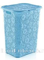 Корзина для белья ажурная голубая 50 л. 05017