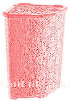 Корзина для белья ажурная розовая 52 л. 05015
