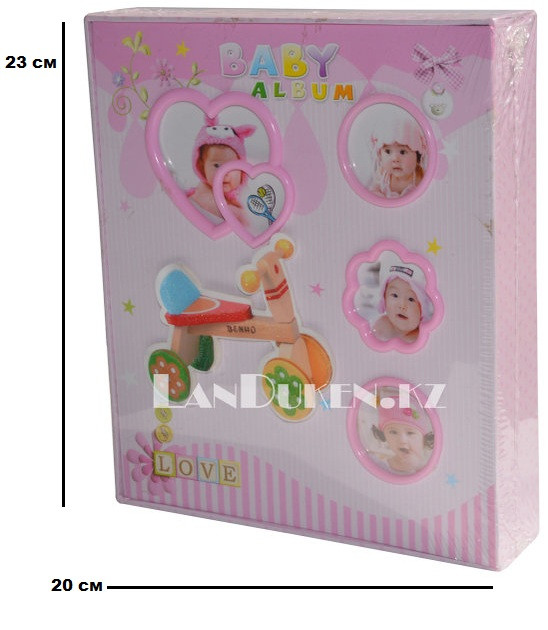 """Фотоальбом детский """"Baby album"""" на 80 фотографий розовый"""