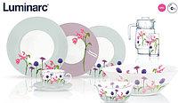 Столовый сервиз Luminarc Rozana Begonia 46 предметов на 6 персон