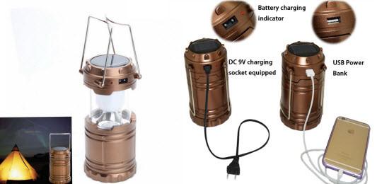 Ручной светодиодный фонарь Rechargeable Camping Lantern 6 LED+USB