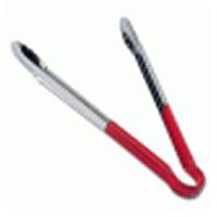 Щипцы универсальные, нерж.сталь, 40 см, красная рукоятка