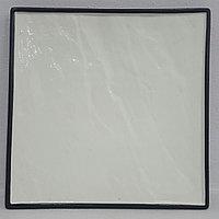 Блюдо каменное квадратное белое (21х21)