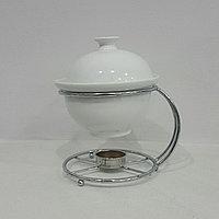 Блюдо глубокое  круглое с крышкой с подогревом, 700 мл