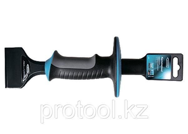 Зубило-конопатка, 215х44 мм, трехкомпон. эргоном. рук-ка,защитный протектор,антикорроз.покр.//GROSS, фото 2