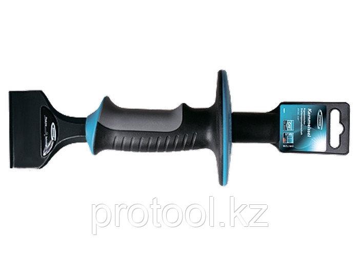 Зубило-конопатка, 215х44 мм, трехкомпон. эргоном. рук-ка,защитный протектор,антикорроз.покр.//GROSS