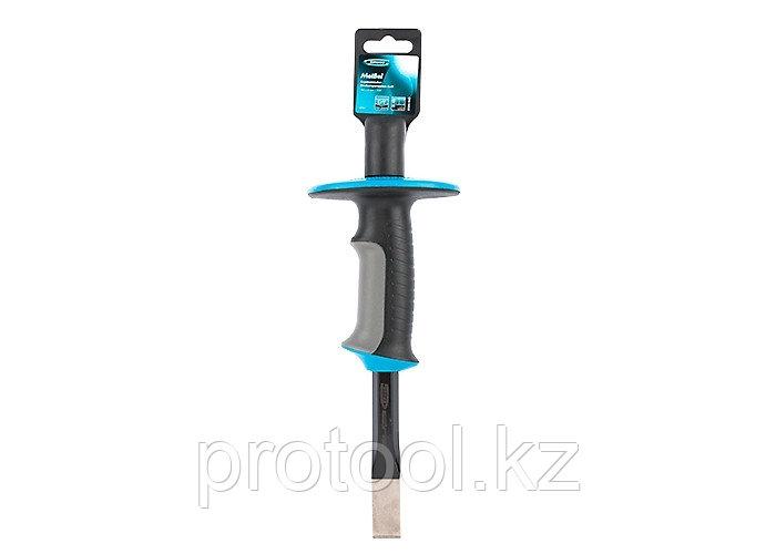 Зубило-скарпель,  254х19 мм, трехкомпон. эргоном. рук-ка, защитный протектор,антикорроз.покр.//GROSS
