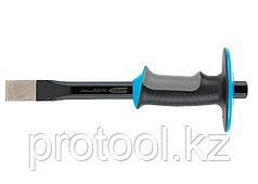 Зубило-скарпель,  305х25 мм, трехкомпон. эргоном. рук-ка,защитный протектор,антикорроз. покр.//GROSS