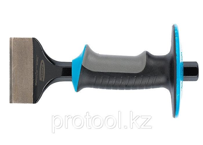 Зубило-конопатка, 215х70 мм, трехкомпон. эргоном. рук-ка,защитный протектор,антикорроз.покр.//GROSS