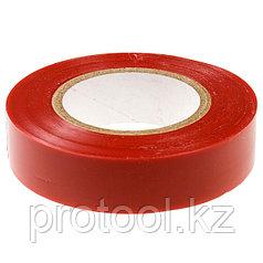 Изолента ПВХ, 15 мм х 10 м, красная // СИБРТЕХ