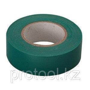 Изолента ПВХ, 15 мм х 10 м, зеленая // СИБРТЕХ, фото 2