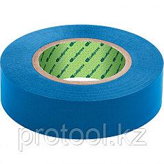 Изолента ПВХ, 15 мм х 10 м, синяя // СИБРТЕХ