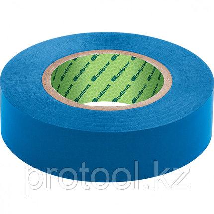 Изолента ПВХ, 15 мм х 10 м, синяя // СИБРТЕХ, фото 2