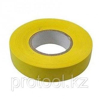 Изолента ПВХ, 19 мм х 20 м, желтая // СИБРТЕХ, фото 2