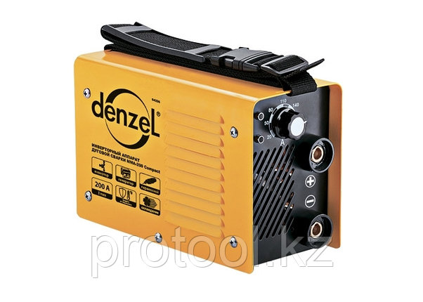 Инверторный аппарат дуговой сварки ММА-200 Compact, 200 А, ПВР 60%, диам. 1,6-5 мм// Denzel, фото 2