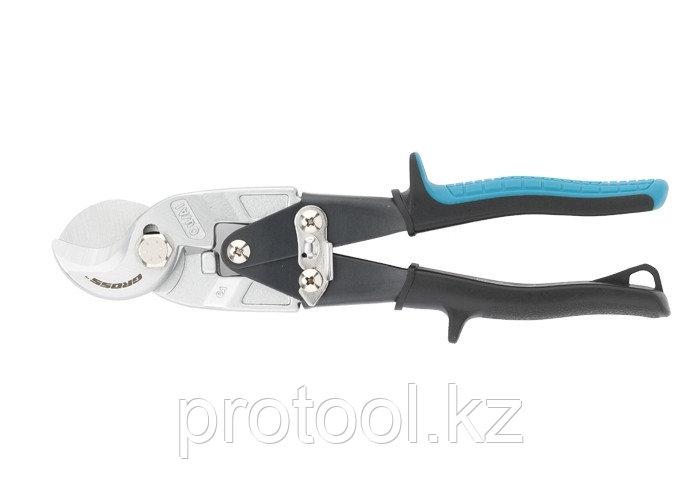 Кабелерез, диэлектрические рукоятки до 1000 В, трехкомпонентные рукоятки, 160 мм// GROSS