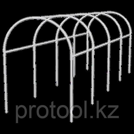 Каркас парника пластиковый 5х1,1х1,2м, дуга d20мм, белый // PALISAD, фото 2
