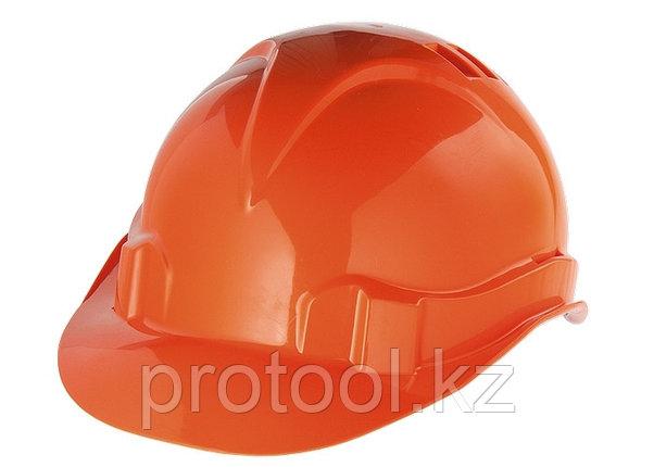 Каска защитная из ударопрочной пластмассы, оранжевая// СИБРТЕХ/Россия, фото 2