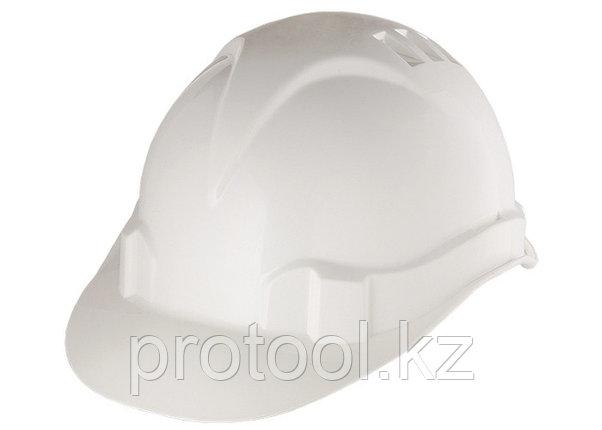 Каска защитная из ударопрочной пластмассы, белая// СИБРТЕХ/Россия, фото 2