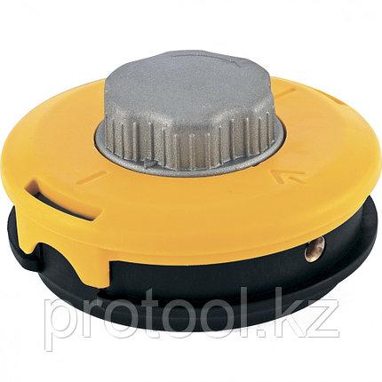 Катушка тримм. полуавтомат.,легкая заправка лески, гайка M10x1,25, винт M10-M10,алюм.кнопка// DENZEL, фото 2