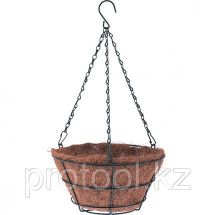 Кашпо подвесное с вкладышем из коковиты, конус d25см // PALISAD, фото 2