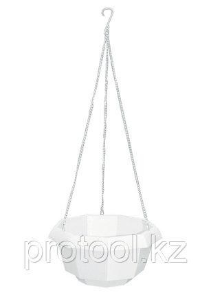 Кашпо подвесное, 200 х 140 мм, пластиковая корзина многогранная// PALISAD, фото 2