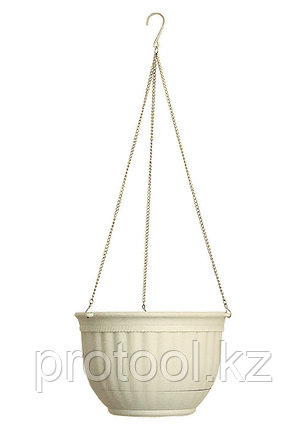 Кашпо подвесное, 240 мм, пластмассовая корзина круглая// PALISAD, фото 2