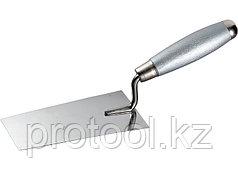 Кельма из нерж. стали, 140 х 82 мм, деревянная ручка// MATRIX