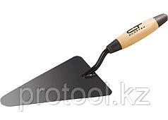 Кельма бетонщика стальная, деревянная усиленная ручка// СИБРТЕХ