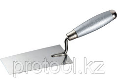 Кельма из нерж. стали, 160 х 84 мм, деревянная ручка// MATRIX