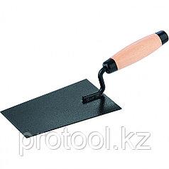 Кельма отделочника, стальная,  деревянная усиленная ручка// Россия