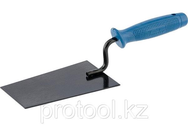 Кельма отделочника, стальная, пластиковая ручка// СИБРТЕХ/ Россия, фото 2