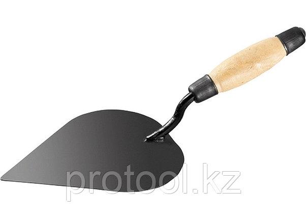 Кельма штукатура стальная, деревянная усиленная ручка// Россия, фото 2
