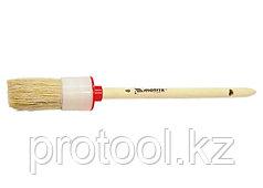 Кисть круглая №10 (40 мм), натуральная щетина, деревянная ручка// MATRIX